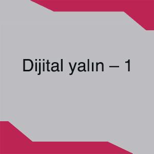 Dijital yalın – 1